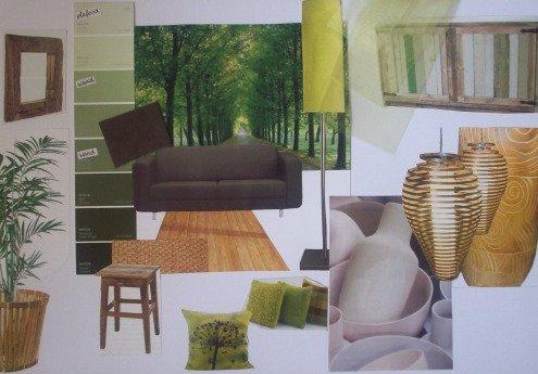 Groen In Woonkamer : Living room in bruine en groene gehoor geven aan uw huis