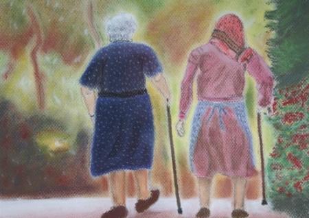 Oude vrouwen te ontmoeten
